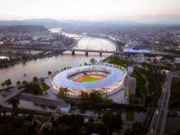 Látványterv az atlétikai világbajnokság helyszínéről. Nagy üzlet lesz megvalósítani. (Fotó: KKBK)